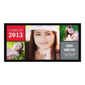 Farbe blockiert Abschluss-Mitteilungs-Foto-Karte Individuelle Fotokarten