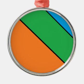Farbe, die Ihren Sommer blockiert Silbernes Ornament