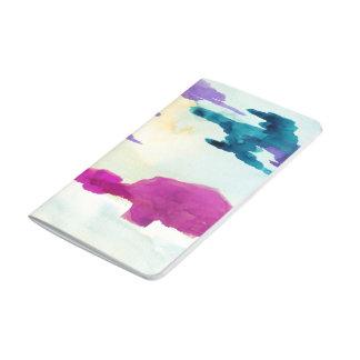 Farbe formt taschennotizbuch