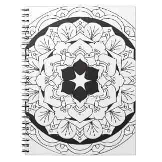 Farbe-Ihr-Eigene BlumenMandala 060517_4 Spiral Notizblock