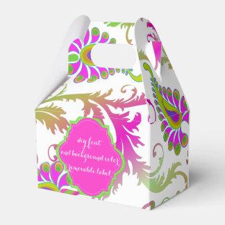Farbe PixDezines Pavo damask/DIY Geschenkschachteln