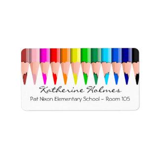 Farbe zeichnet Adressen-Etikett an Adressaufkleber