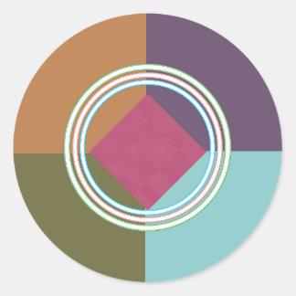 FARBEbalancen-und Schein-Kreise: Bio Entwurf Runder Aufkleber