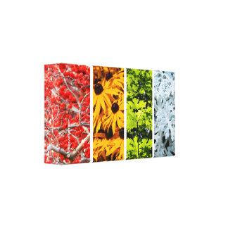 Farben der ändernden Jahreszeiten Quadriptych Leinwanddruck