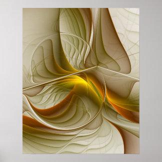 Farben der wertvollen Metalle, abstrakte Poster