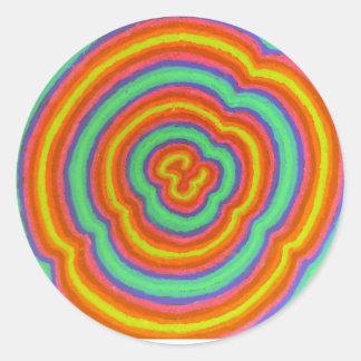 Farben Runder Aufkleber