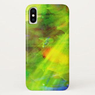 färben Sie das abstrakte nahtlose Hintergrundgrün, iPhone X Hülle