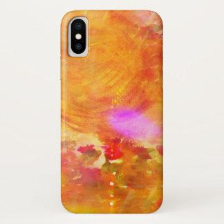 färben Sie das nahtlose Hintergrundgelb der Kunst, iPhone X Hülle