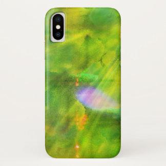 färben Sie das nahtlose Hintergrundgrün, gelb iPhone X Hülle
