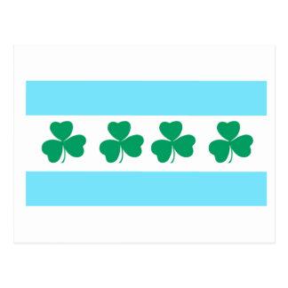 Färben Sie die des Fluss-Grün-St Patrick Postkarte