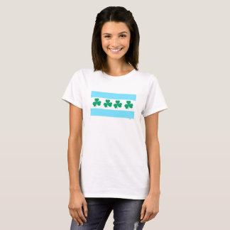 Färben Sie die des Fluss-Grün-St Patrick T-Shirt