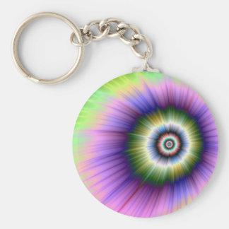Färben Sie Explosion gebatiktes Keychain Schlüsselanhänger