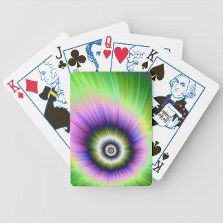 Färben Sie Explosions-gebatikte Spielkarten