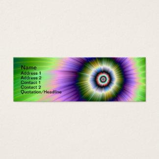 Färben Sie Explosions-gebatikte Visitenkarte