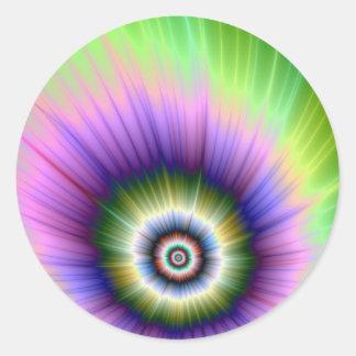 Färben Sie Explosions-gebatikten Aufkleber