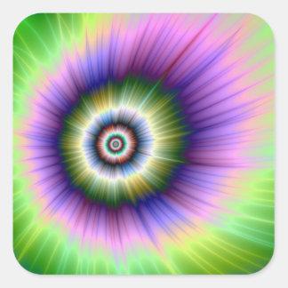 Färben Sie Explosions-gebatikten quadratischen Quadratischer Aufkleber