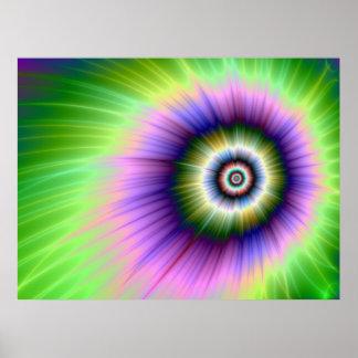 Färben Sie Explosions-gebatiktes Plakat