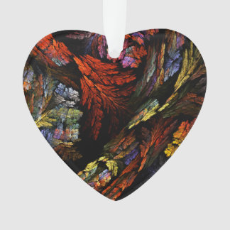 Färben Sie Harmonie-abstraktes Kunst-Acryl-Herz Ornament