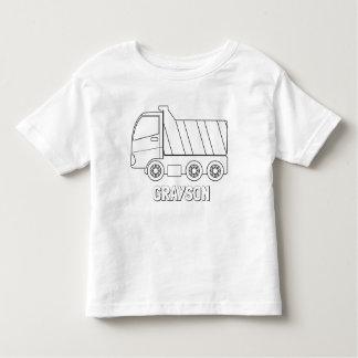 Färben Sie Ihr eigenes Kipper-personalisiertes Kleinkind T-shirt