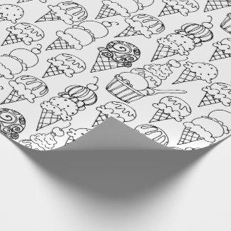 Färben Sie Ihre eigenen Eistüten Geschenkpapier
