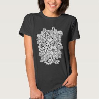 Färben Sie mich Blumengekritzel der gruppen-DIY T-shirts