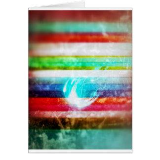 Farben und Glitzern Karte
