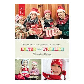 Farbenreich Foto Weihnachtskarte 12,7 X 17,8 Cm Einladungskarte