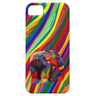 Farbenreicher abstrakter Elefant-Telefon-Kasten Hülle Fürs iPhone 5