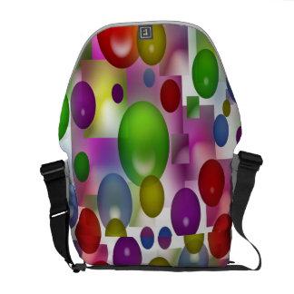Farbige Bälle Kurier Tasche