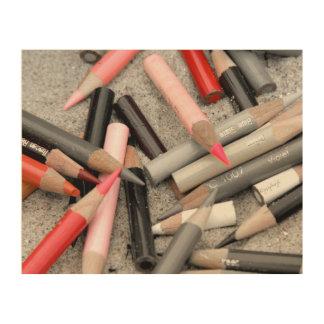 Farbige Bleistift jjhelene Entwurf hölzerne Holzdrucke