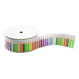 Farbige Bleistift-Revue Ripsband