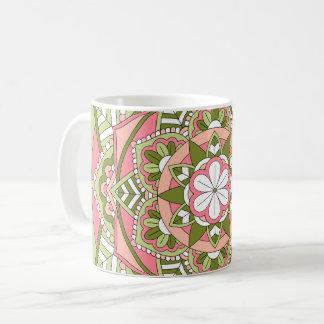 Farbige BlumenMandala 061117_1 Tasse