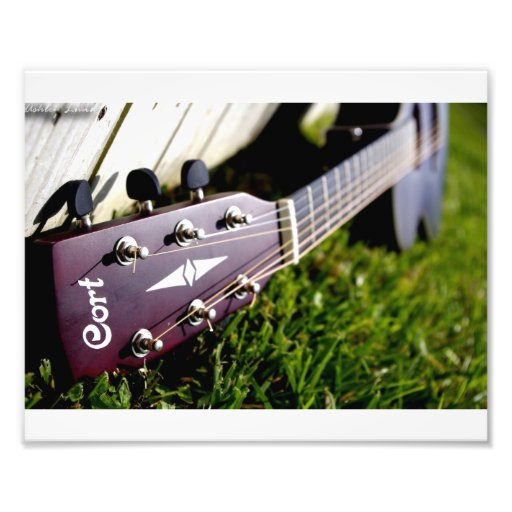 Farbige Cort Gitarre Photodruck