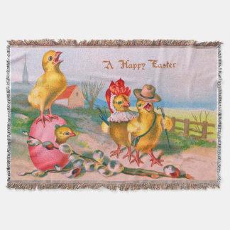 Farbige Ei-Baumwolle Ostern Küken Decke