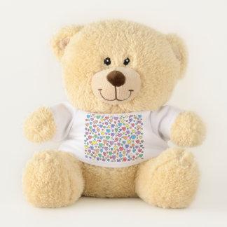 Farbige Herzen Teddybär