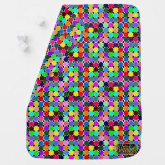 Farbige Kreis-dekorative Baby-Decke Puckdecke