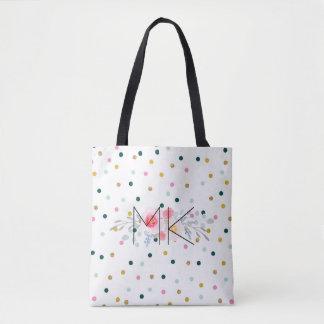 Farbige Polka-Punkt-Taschen-Tasche mit Ihren Tasche