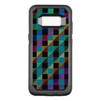 Farbige Quadrate halb und halb OtterBox Commuter Samsung Galaxy S8 Hülle