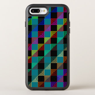 Farbige Quadrate halb und halb OtterBox Symmetry iPhone 8 Plus/7 Plus Hülle