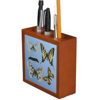 Farbige Schmetterlinge, Raupen und Motte Stifthalter