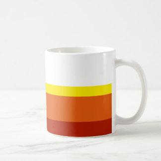 Farbige Streifen Kaffeetasse