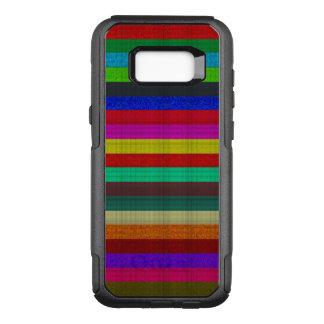 Farbige Streifenfliesenbeschaffenheit OtterBox Commuter Samsung Galaxy S8+ Hülle