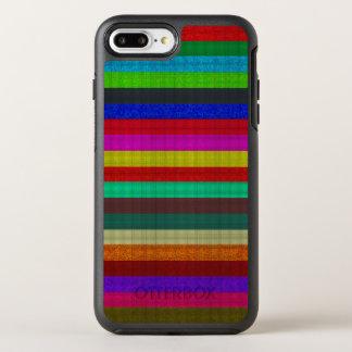Farbige Streifenfliesenbeschaffenheit OtterBox Symmetry iPhone 8 Plus/7 Plus Hülle
