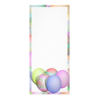 Farbiger Osterei-Hintergrund Werbekarte