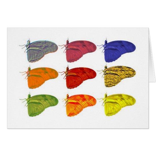 Farbiger Schmetterling Notecard Karte