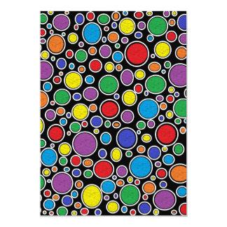 Farbiges Blasen-Schwarzes Karte