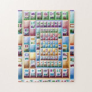 Farbiges Fliesen-Puzzlespiel