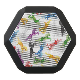 Farbiges Muster-Einhorn Schwarze Bluetooth Lautsprecher