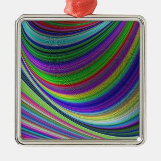 Farbkurven Silbernes Ornament