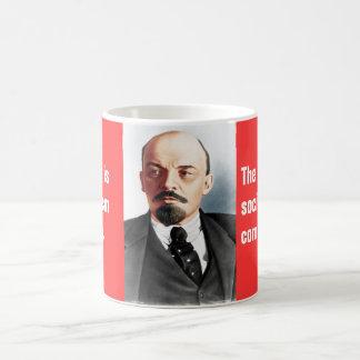 Farbporträt von Lenin Kaffeetasse